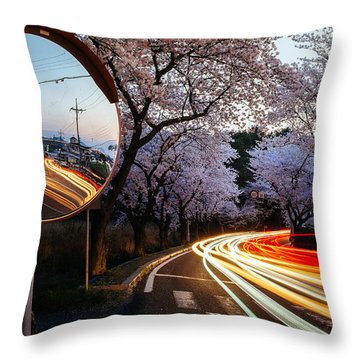 Korea's Roadside Blossoms Throw Pillow