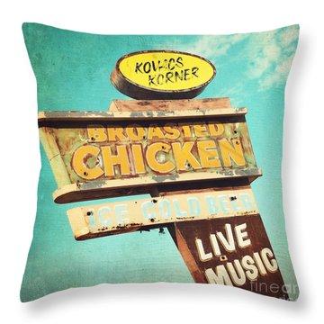 Kovacs Korner Throw Pillow by Sylvia Cook