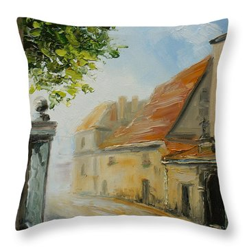 Krakow- Reformacka Street Throw Pillow