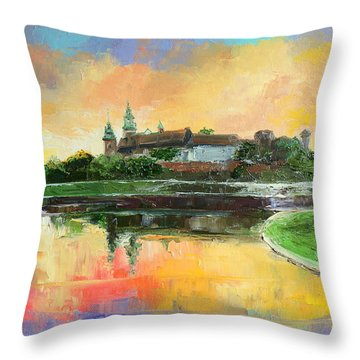 Krakow - Wawel Castle Throw Pillow