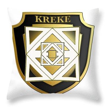 Kreke Family Crest Throw Pillow
