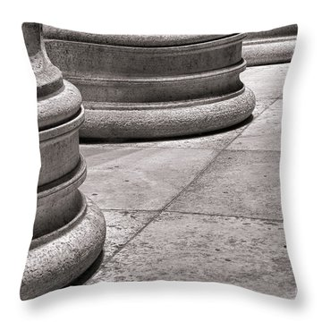 Krepis And Stylobates Throw Pillow by Olivier Le Queinec
