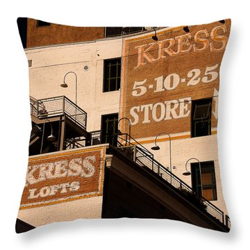 Kress Ghost Signs By Denise Dube Throw Pillow