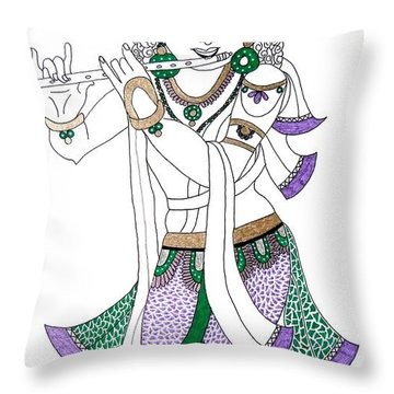 Krishna IIi Throw Pillow