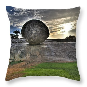 Throw Pillow featuring the photograph Krishna's Butterball by Ross G Strachan
