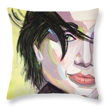 Kristin Scott Thomas Throw Pillow