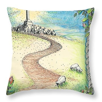 Krizevac - Cross Mountain Throw Pillow