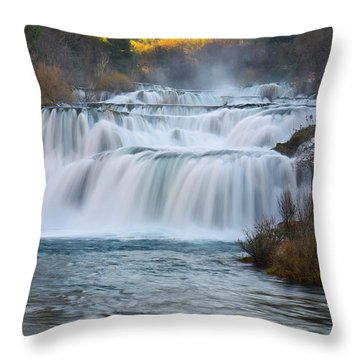 Krka Waterfalls Throw Pillow