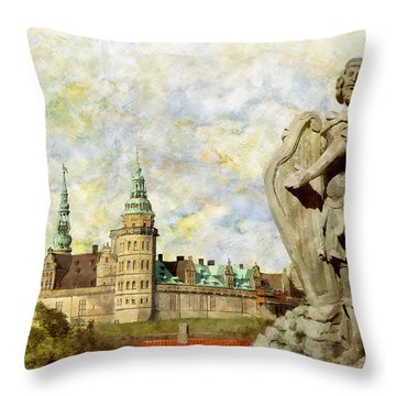 Kronborg Castle Throw Pillow by Catf