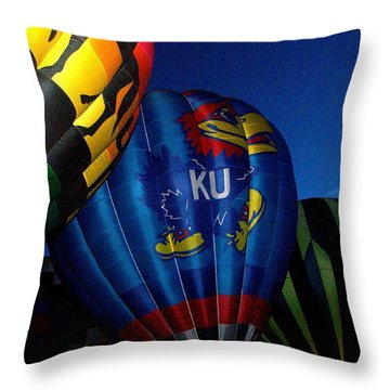 Ku Ballon Throw Pillow