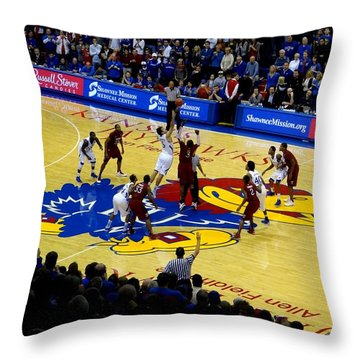 Ku Tip Off Throw Pillow