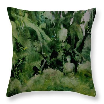Kudzombies Throw Pillow