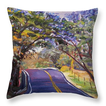Kula Cruising Throw Pillow by Jennifer Beaudet