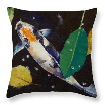 Kumonryu Koi Art Throw Pillow by Michael Creese