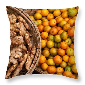 Kumquats And Ginger Throw Pillow