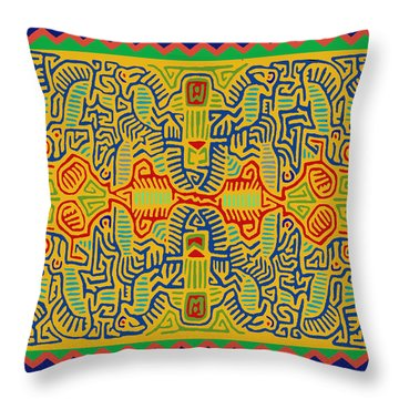 Kuna Bird Spirits Throw Pillow