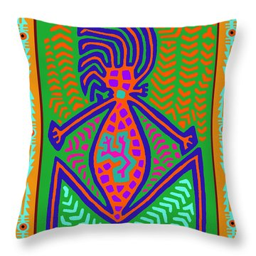 Kuna Indian Mother Earth Throw Pillow