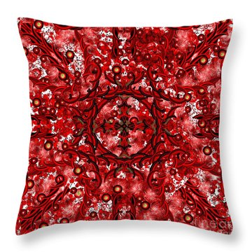 Kundalini Energy Throw Pillow by Barbara Chichester