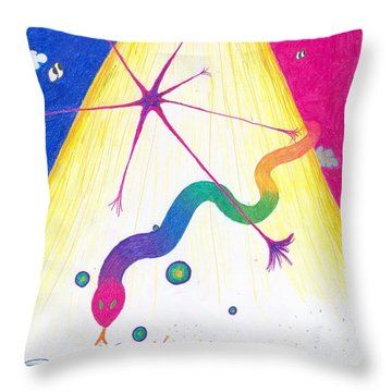 Kundalini's Creation Throw Pillow