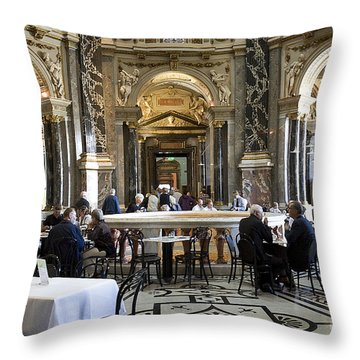 Kunsthistorische Museum Cafe II Throw Pillow by Madeline Ellis