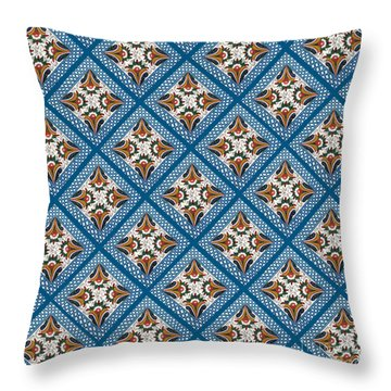 Kurbits Squares Throw Pillow by Leif Sodergren