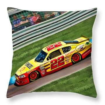 Kurt Busch Throw Pillow