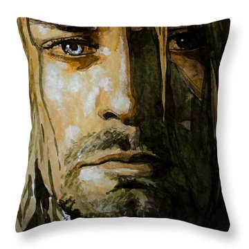 Kurt Cobain Throw Pillow by Laur Iduc