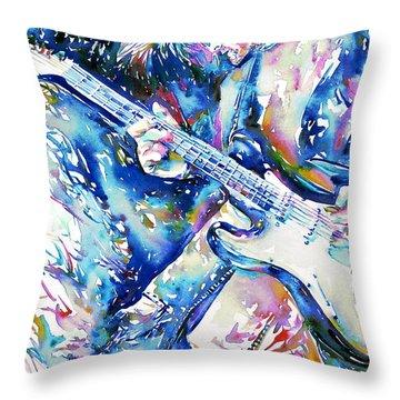 Kurt Cobain Portrait.3 Throw Pillow by Fabrizio Cassetta