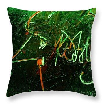 Kurt Vonnegut Throw Pillow by Michael Kulick