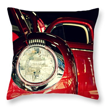 Kustom Red Coupe Throw Pillow