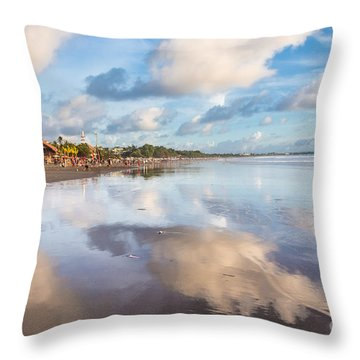 Kuta Beach In Seminyak Throw Pillow