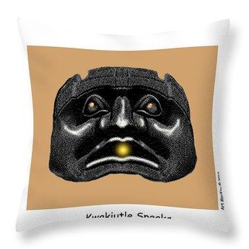 Kwakiutl Speaks Throw Pillow