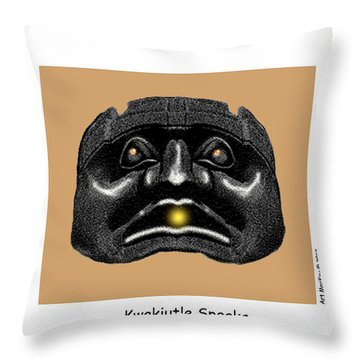 Kwakiutl Speaks Throw Pillow
