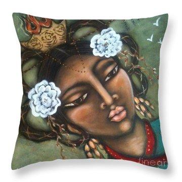 Kwan Yin Throw Pillow by Maya Telford