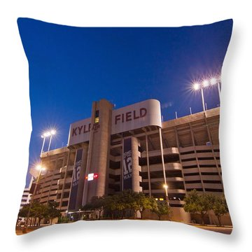 Kyle Field Blue Hour Throw Pillow by Linda Unger