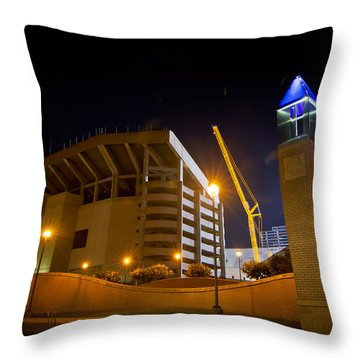 Kyle Field Throw Pillow by Linda Unger