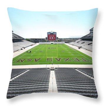 Kyle Field Throw Pillow by Georgia Fowler