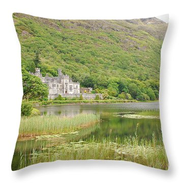 Kylemore Abbey 1 Throw Pillow by Mary Carol Story