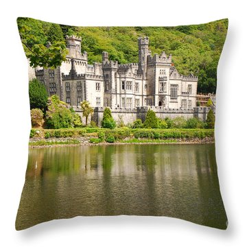 Kylemore Abbey 2 Throw Pillow by Mary Carol Story