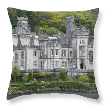 Kylemore Abbey Throw Pillow by Mike McGlothlen