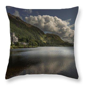 Kylemore Abbey--- Ireland Throw Pillow by Tim Bryan