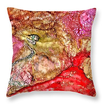 Kyoto Spring Throw Pillow by Bellesouth Studio