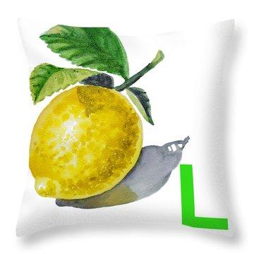 Lemon Throw Pillows