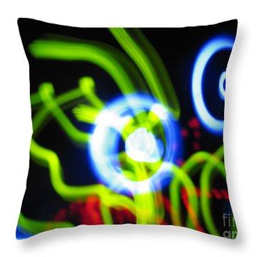 L E D Painting 0250 Throw Pillow