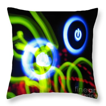 L E D Painting 0250 Throw Pillow