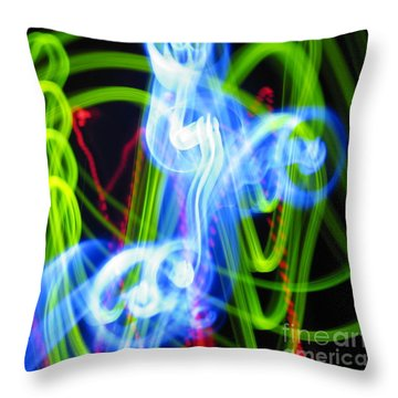 L E D Painting 0252 Throw Pillow
