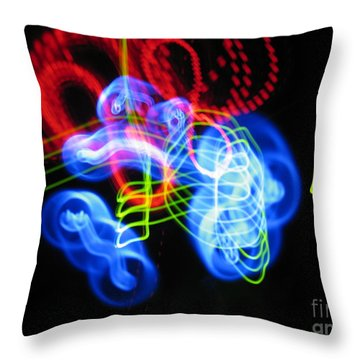 L E D Painting 0255 Throw Pillow