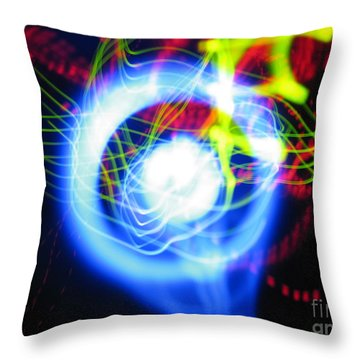 L E D Painting 0256 Throw Pillow
