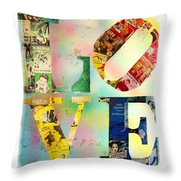 L O V E Throw Pillow by Jordan Blackstone