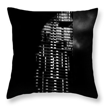 L Tower Toronto Canada Throw Pillow by Brian Carson